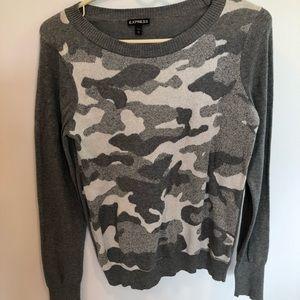 Express   Camo sweater   Medium